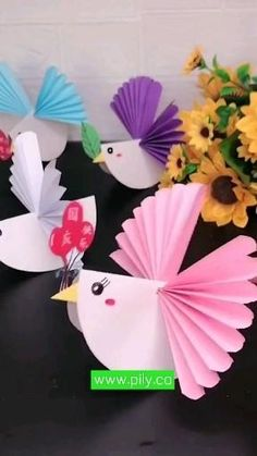 Animal Crafts For Kids, Fall Crafts For Kids, Craft Activities For Kids, Preschool Crafts, Paper Crafts Origami, Paper Crafts For Kids, Craft With Paper, Bird Paper Craft, Paper Crafting