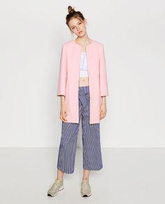 Image 1 of ROUND NECK COAT from Zara