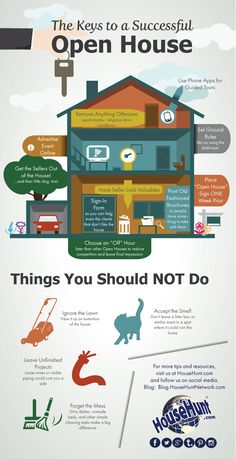 Tips for a Successful Open House #Infographic www.blog.househuntnetwork.com/tips-successful-open-house-infographic/