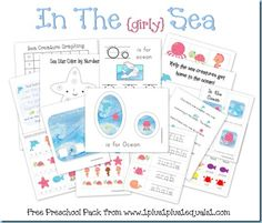 Ocean Preschool Pack