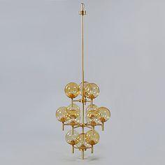 TAKLAMPA, Luxus, troligen Uno Kristiansson, 1900-talets andra hälft, höjd ca 250 cm.   Bukowskis Market