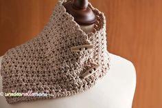 scaldacollo-all'uncinetto Crochet Neck Warmer, Scarf Styles, Cowl Neck, Lana, Crochet Top, Shawl, Cross Stitch, Chic, Women
