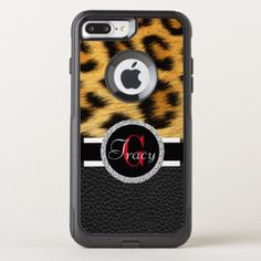Leopard Skin Animal Print OtterBox Commuter iPhone 8 Plus/7 Plus Case - girly gifts girls gift ideas unique special