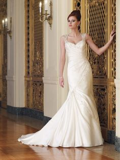 Pretty Sweetheart Neckline Modified Mermaid Dress With Sleeves