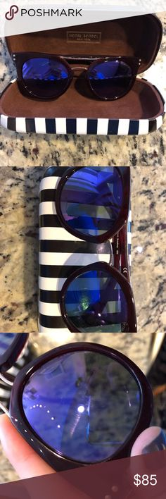 Henri Bendel Broadway Sunnies Henri Bendel Broadway Sunglasses. Gently used purple/wine color. There are some hairline scratches on the plastic/frames which I tried to show as good as possible in the photos. Dimensions are included in the picture straight from Bendel website. Comes with Henri Bendel case as pictured. henri bendel Accessories Sunglasses