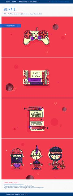 We Rate by Homeboy Estudio on Behance | Animated | Gif | Motion | Graphic | Animate | Geometric |