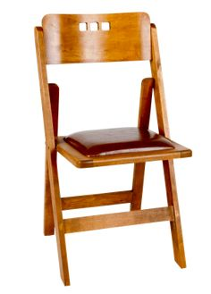 Bright Als 3 Hole Walnut Wood Folding Chair