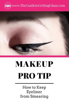 I'm often asked how to keep eyeliner from smearing. Here are my makeup artist tips to keep eyeliner from smudging and the best smudgeproof eyeliners. Best Makeup Tips, Makeup Pro, Makeup Routine, Eye Makeup, Makeup Tricks, Night Makeup, Party Makeup, Makeup Brushes, Makeup Ideas