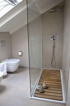 """Résultat de recherche d'images pour """"douche sous toit en pente"""""""