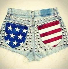 Because my other u.s.a flag shorts got a RIP in them!  grrrr