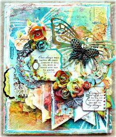 Kelly Foster: All The Pretty Things: My Tutorials  Video tutorial for creating this canvas!