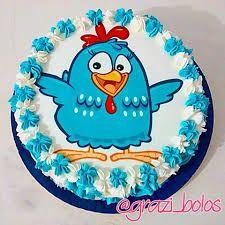 Resultado de imagem para bolo da galinha pintadinha em chantilly
