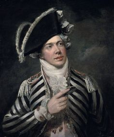 George Clint - Portrait of a gentleman, traditionally identified as John Fawcett as Count Friponi イギリス人 Renaissance, Black And White Coat, 18th Century Fashion, Historical Costume, Portrait Art, Art History, Fashion Art, Gentleman, Art Gallery