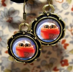 little owl drop earrings from F'Moush