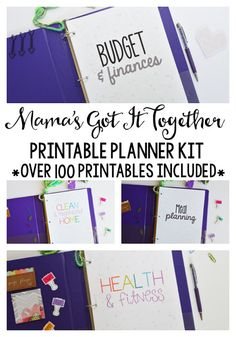 The ultimate set of planning printables- over 100+ pages in both my black and white and my color design! Everything you need to get organized. $90+ value for $29.99