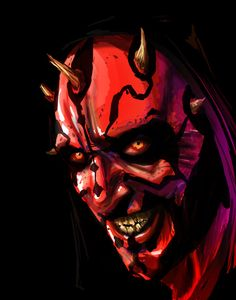 Star Wars - Darth Maul by Vincent Vernacatola Bd Star Wars, Star Wars Sith, Star Wars Girls, Darth Maul, Starwars, Art Of Fighting, Star Wars Images, Dark Lord, Star Wars Characters