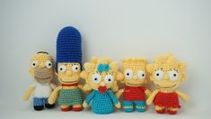 Patron Gratis Crochet: Los Simpson (amigurumi) Crochet Pattern: The Simpsons (Amigurumi). In Central de Crochet you will find a large, … Crochet Dolls Free Patterns, Crochet Toys, Free Crochet, Patron Crochet, Amigurumi Tutorial, Tutorial Crochet, Crochet Dragon, Knitted Animals, Knitting Magazine
