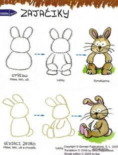 Tekenles voor kinderen. Hoe teken je een konijn / haas stap voor stap. | groep 4 groep 5 groep 6 | How to draw a bunny step by step | primary school |