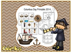 Columbus Day Printable 2014 from Preschool Printables on TeachersNotebook.com -  (25 pages)  - Printable: The activities in this pack are designed to have fun while the child learns a variety of preschool concepts including number, color, patterns, sequence, size, letters and more.