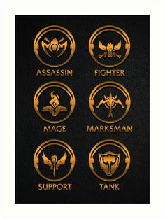 """League of Legends Roleplay Teambuilder [gold emblems]"" Art Prints by Naumovski League Of Legends Logo, Legend Symbol, Futuristic Samurai, Character Symbols, Mobile Legend Wallpaper, The Legend Of Heroes, Desenho Tattoo, Bubble Art, Game Icon"