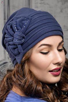 темно-синий/ 161 Turban Hat, Turban Style, Fleece Hats, Fibre And Fabric, Hair Cover, Stylish Hats, Love Hat, Bandeau, Headgear