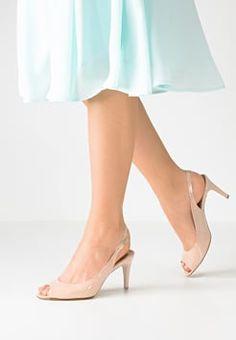 Högl - Højhælede peep-toes - nude