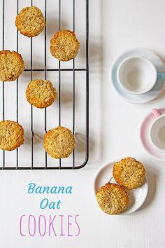 Banana Oat Cookies no refined sugar