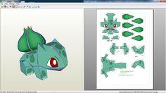Papercraft Pokemon Bulbasaur Papercraft pokemon bulbasaur