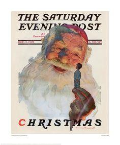 Santa gallery-Norman Rockwell
