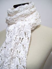 Ravelry: Amarachi Lace Crochet Scarf Pattern pattern by Donna Rutledge-Okoro (free crochet pattern)