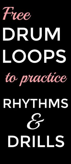 Drum Loops - Bernadette Teaches Music
