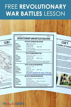 In this lesson, students learn about 8 important Revolutionary War battles by analyzing clues around the room. Teaching Us History, History Activities, History Education, Social Studies Notebook, 6th Grade Social Studies, Teaching Social Studies, Revolutionary War Battles, American Revolutionary War, Education Middle School