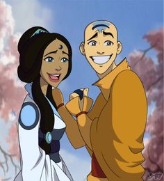 Aang is gorgeous!!!!!! (: katara looks like the moon goddess!!! i sooo wish we could see their wedding!