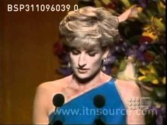 Diana in Australia as guest of honor at an exclusive fundraising dinner in October, 1996.