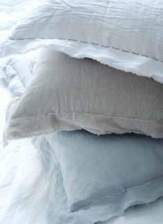 Rough-Stitched Ripped Linen Pillow Covers