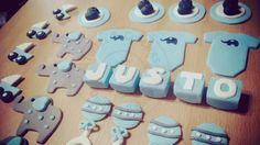 Estos son detalles de la #mesadulce de #babyshower para Justo #cupcakes #cookies #torta en #tortasycupcakesquilmes