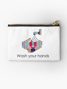 A friendly reminder to those around you to keep washing their hands during these strange times. We can all do our bit, pull together and get through it together. You Deserve It, Free Stickers, Gifts For Family, Zipper Pouch, Zip Around Wallet, Finding Yourself, Coin Purse, Hands, Artists
