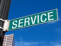 """One word says it all: Service. It's what we do; it's why we're here. On a menu at a very successful diner: """"Yes is the answer, now what is the question""""."""
