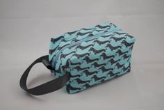 Small Project  Box Bag  Weiner Dogs by lilpockets on Etsy, $23.00
