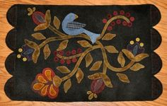 Bird In Bloom-Primitive Gatherings pattern  love the blue bird