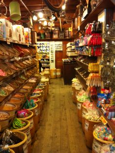 Now THIS is an old time candy store - Rau's Country Store - Frankenmuth, Michigan. Actually much more than candy can be bought here, but this aisle of course was a favorite of mine so I had to snap a pic!