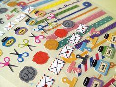 cute stationery sticker mini envelope seal by StickersKingdom