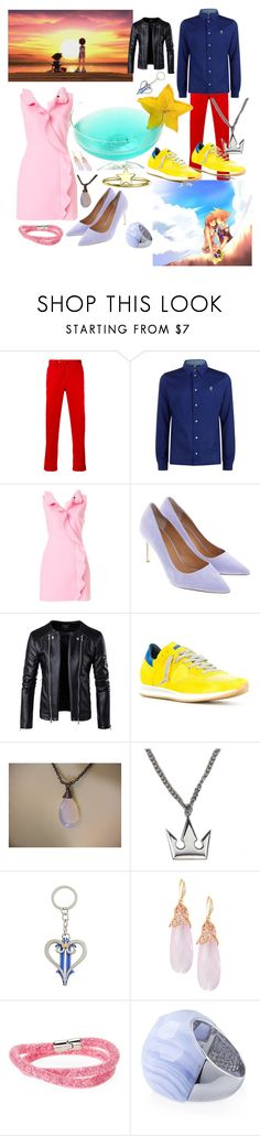 """""""Kairi and Sora date night"""" by fandom-girl365790 ❤ liked on Polyvore featuring PT01 Pantaloni Torino, Paul Smith, MSGM, Tory Burch, Philippe Model, Hot Topic, Indulgems, Swarovski and Bling Jewelry"""
