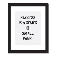 Hang this beautiful 'Success is a series of small wins' inspirational print on your walls◦ Made to order◦ Frame is not included