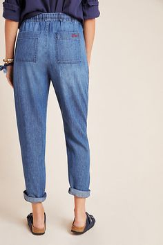NWT $40 GAP Kids Super Soft Denim Joggers Jeans Pants XS S 4 5 6 7 Regular