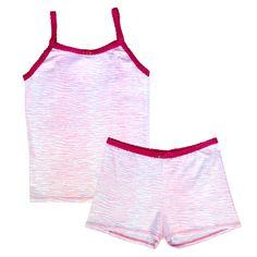 Esme Girls Beachwear Camisole Crop Top//Shorts Set