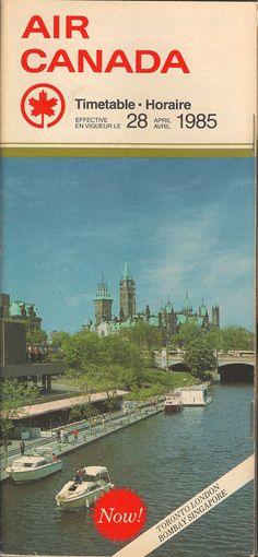 Air Canada system timetable 4/28/85 [5012] | eBay