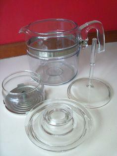 Vintage Pyrex Percolator Glass Coffee Pot 6-cup  #7756  #PYREXFlameware