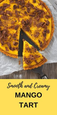 Super creamy and smooth Mango Tart is filled with the most delectable mango cream that is nestled on a Graham crust. This is the ultimate Mango treat! Mango Recipes, Tart Recipes, Best Dessert Recipes, Easy Desserts, Sweet Recipes, Delicious Desserts, Filipino Desserts, Cuban Recipes, Homemade Desserts