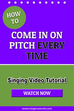 How To Come In On Pitch Every Time #singing #singingtips